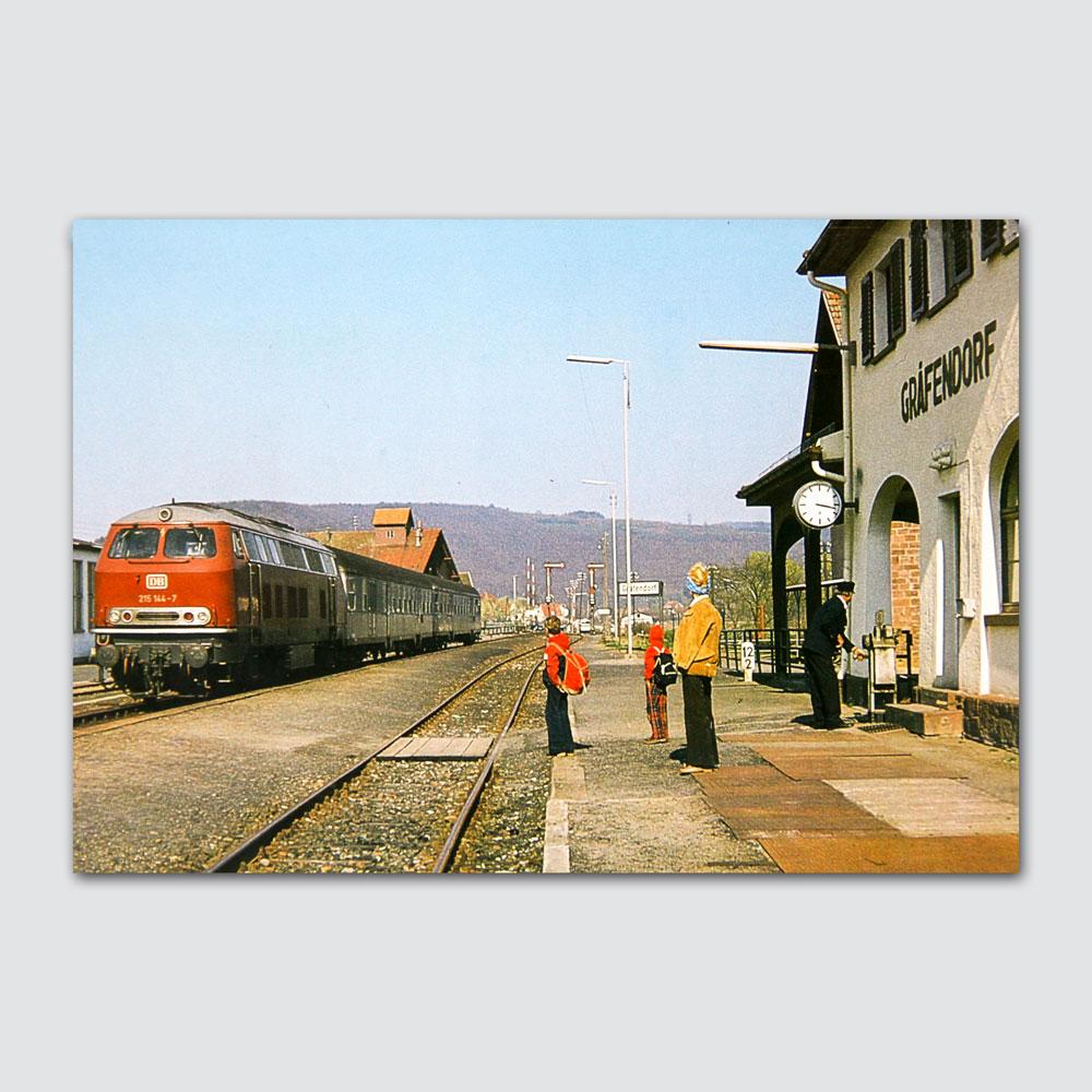 Eisenbahn Gemünden - Bad Kissingen Rückseite