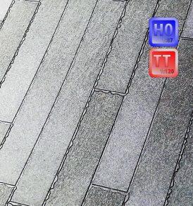 Bitumen Dachabdichtungsbahnen für´s Modell im Markingverfahren hergestellt