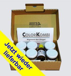 Farbset Pigmente für Dächer und Mauern zum bemalen