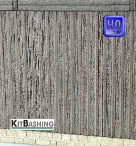 Fassadenverkleidungen für den realistischen Gebäudemodellbau / offenen Leistenschalung