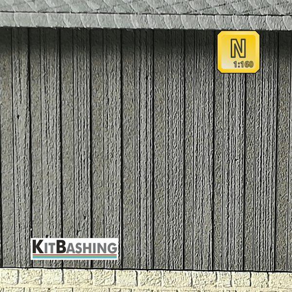 Holzwand Schalungen und Vertäfelungen für Modellbau Fassaden Boden-Deckel Schalung Spur N 1zu160