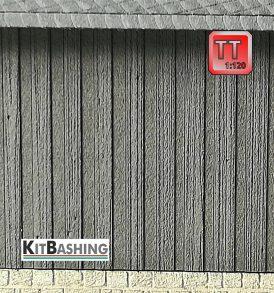 Holzverkleidung für Modellfassaden Boden-Deckel Schalung