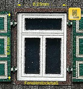Flügelfenster zum KitBashing von Modellgebäuden Spur N