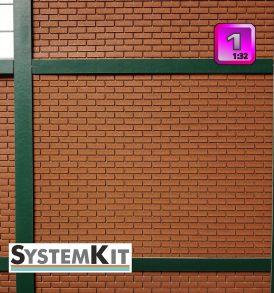Modulares Baukastensystem SystemKit Klinkermauer-Set A1
