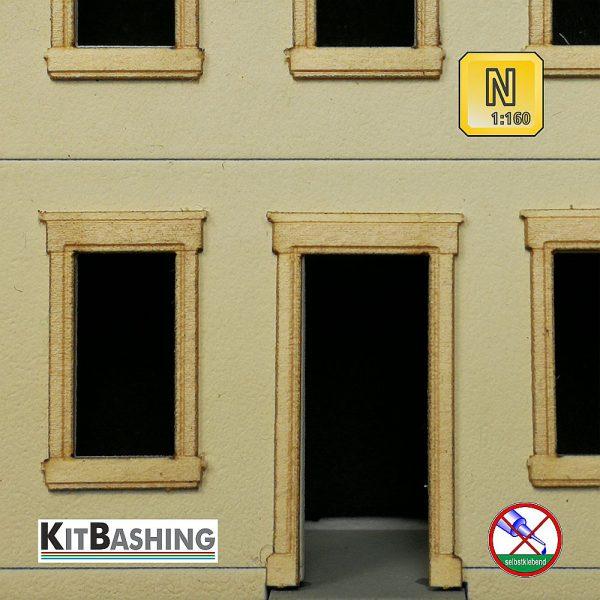 Sandstein Gewände Set B3 Nenngröße N 1zu160