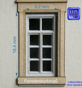 Flügelfenster B2 Baugröße H0