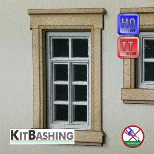 Flügelfenster für Modellbau TT und H0, Set B2