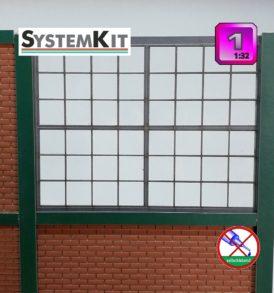 Fabrikfenster modulares Einstecksystem in Spur 1