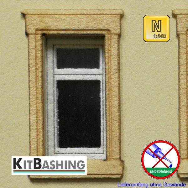 Flügelfenster Bausatz mit Oberlicht Maßstab 1:160 Spur N