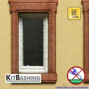 Einflügliches Fenster als Spur N Bausatz selbstklebend