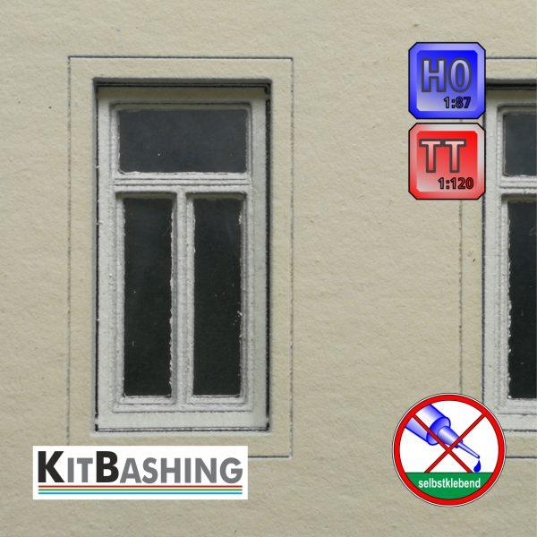 Flügel-Fenster Set B1 für H0 und TT