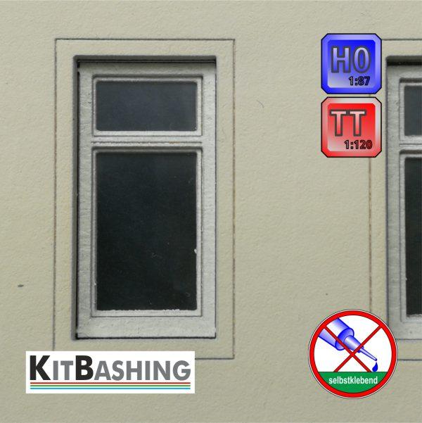Flügelfenster mit Oberlicht für Spur H0 und TT