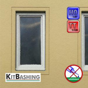Einflügliches Fenster für Modellbau in der Nenngröße H0 und TT