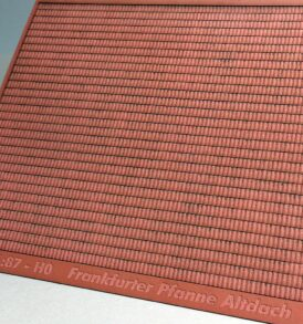 Bastelbogen für Dachstrukturen Baugröße H0 Frankfurter Pfanne als altes Dach H0