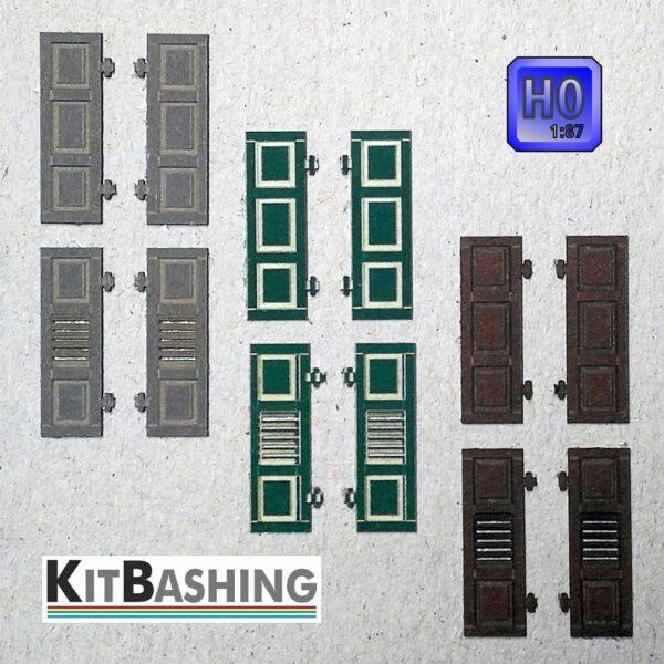 Fensterladen Set A1 für H0 Gebäudemodellbau