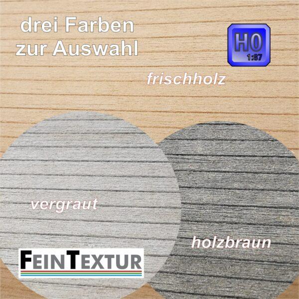 Schalungsbretter für Dachnachbindungen im Modell H0