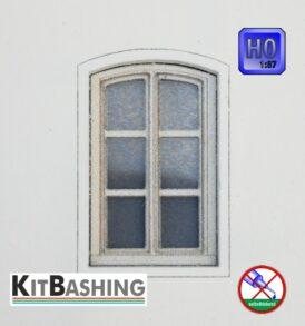 Modellbau-Bogenfenster für die Baugröße H0