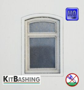 Laserbausatz für Modell-Bogenfenster Set D3 in H0