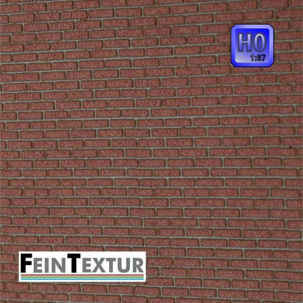 Backstein Mauerplatte für H0 Modellbau farbig gelasert