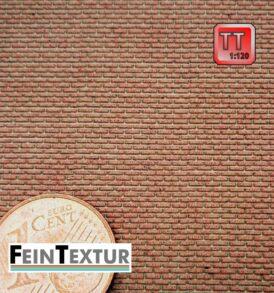 Lasercut Ziegelmauer extra Fein für TT Modellbau