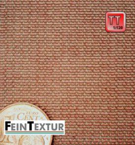 Kreuzverband Mauerziegel als TT Modellbau-Bastelplatte farbig