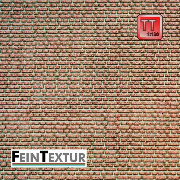 Ziegelmauer Kreuzverband für Maßstab TT in farbigem Lasercut
