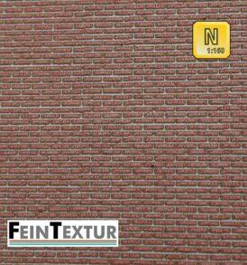 Bastelplatten extra fein für Mauern aus Ziegelstein in Nenngröße N