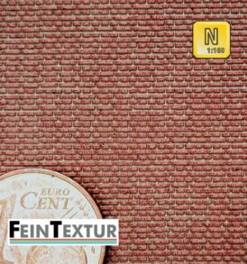 Kreuzverband Ziegelmauer für Baugröße Spur N aus farbigem Lasercut