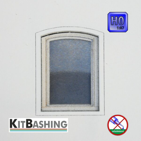 Passende Bogenfenster zu Set A, H0 Modellbau Kreativ3.De