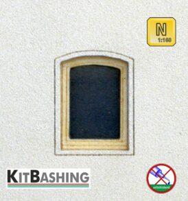 Modellbau-Bogenfenster für Spur N Bogenfenster Set A4