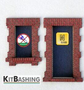 Mauergewände für rechteckiche Tür- und Fensteröffnungen. Modellbau Nenngröße N Set B1
